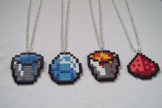 Minecraft items and tools necklaces hama beads by BIGBEADSUK