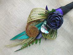 flax-bouquets Flower Corsage, Flower Bouquet Wedding, Flax Weaving, Flax Flowers, Ribbon Lei, Maori Designs, Boutonnieres, Floral Bouquets, Floral Designs