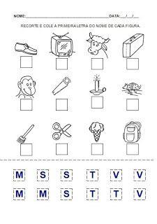 Atividade 4 para a hipótese de escrita pré-silábica. Alfabetização.