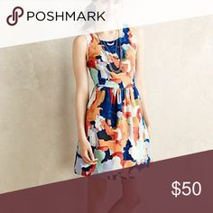 Anthropologie Postmark Lantana Fit and Flare Dress JUST IN!! Size 0. Like new condition.  Pictures coming tomorrow!!!! Anthropologie Dresses
