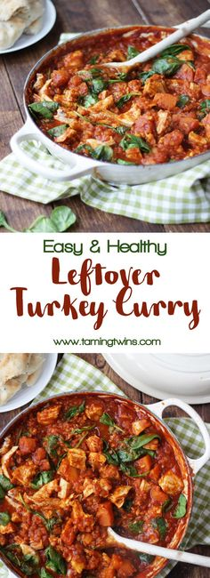 Leftover Turkey Curry Recipe - The perfect post Christmas dish, easy, quick, deliciously tasty. This wholesome turkey curry has added lentils, butternut squash and spinach for a dose of extra veg. It uses the cold, cooked turkey from your roast for a really special curry. Also healthy, made with no cream, for low calorie diets and suitable for Slimming World.