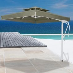 Portofino Pro 8u0027 Square Lighted Offset Patio Umbrella   This Is A MUST  Have!!! (And Better Price Than Costco!) | Pinterest | Offset Patio Umbrella,  Patio ...