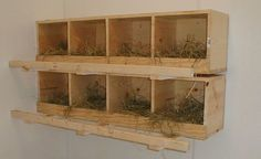 Chicken nesting boxes can be easily made out of materials that you have lying around the place. This will help you keep the cost down when building your chicken coop - www.chickencoop.dlbnn.com