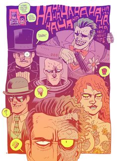BATMAN ROGUES -  by Dan Hipp