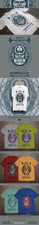 Gorilla Sound Master T-shirt Design Vector Illustration. Download: http://graphicriver.net/item/gorilla-sound-master-tshirt/12685056?ref=ksioks
