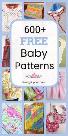 Free Baby Sewing Patterns: Over 600 baby diy projects and sewing tutorials. - Free Baby Sewing Patterns: Over 600 baby diy projects and sewing tutorials. Sew … Free Baby Sewing Patterns: Over 600 baby diy projects and sewing tutorials. Easy Baby Sewing Patterns, Free Baby Patterns, Baby Clothes Patterns, Diaper Bag Patterns, Burp Cloth Patterns, Toddler Dress Patterns, Baby Sewing Projects, Sewing For Kids, Free Sewing