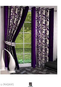 Checkout this latest Curtains_500-1000 Product Name: *Blissful House Charming Leaf Purple Curtain 4Ft x 7Ft Pack of 2 Pieces Good Quality Curtain* Material: Polyester Length: Door Multipack: 2 Sizes:  7 Feet (Length Size: 7 ft Width Size: 4 ft)  9 Feet (Length Size: 9 ft Width Size: 4 ft)  5 Feet (Length Size: 5 ft Width Size: 4 ft) Country of Origin: India Easy Returns Available In Case Of Any Issue   Catalog Rating: ★3.9 (348)  Catalog Name: Classic Stylish Curtains & Sheers CatalogID_1196457 C54-SC1116 Code: 373-7442440-9951