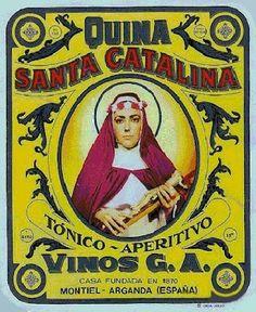 Cárteles antiguos de publicidad- Quina Santa Catalina 1960