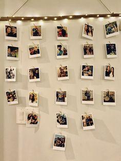 diy Polaroid wall branch - New Deko Sites Diy Wall Decor For Bedroom, Photo Wall Decor, Cute Room Decor, Bedroom Ideas, Diy Wand, Polaroid Wall, Polaroids On Wall, Hanging Polaroids, Polaroid Display