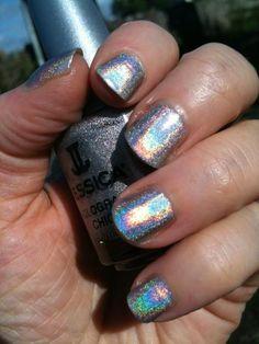 Statement making nails with Jessica's Hologram Chic. http://www.gerrardinternational.com/hologram-chic.html