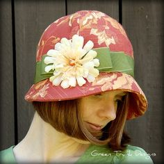 Sunset Cloche Hat ❤ by GreenTrunkDesigns on Etsy