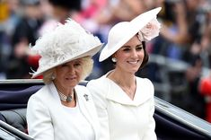 Kate Middleton Photos - Camilla, Duchess of Cornwall and Catherine, Duchess of Cambridge sit in a carriage during the Trooping the Colour, this year marking the Queen's 90th birthday at The Mall on June 11, 2016 in London, England. The ceremony is Queen Elizabeth II's annual birthday parade and dates back to the time of Charles II in the 17th Century when the Colours of a regiment were used as a rallying point in battle. - Trooping The Colour 2016