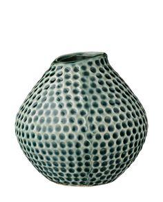 Vase Indentation dunkelgrün von Bloomingville online kaufen