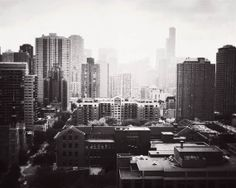 Chicago art black and white photography skyline by JourneysEye, $28.00