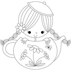 Stamping-Bella-Clementine-the-Teapot-Girl-Rubber-Stamp-5c33fb74-538b-484f-93e0-01f02f44270b_320.jpg (320×320)