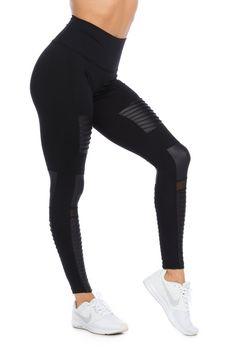37f51d6f09f4b3 SOHO MOTO High-Waisted Legging Jet Black Wear Test, 4 Way Stretch Fabric,