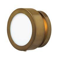Hinkley Lighting Mercer 1 Light Sconce in Heritage Brass 3650HB