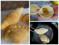 Akhirnya berhasil juga buat Curry puff ini, orang Medan menyebutnya Kari pok. Ini adalah percobaan keempat membuat makanan asli Malays... Donut Recipes, Snack Recipes, Cooking Recipes, Indian Snacks, Indian Food Recipes, Prawn Noodle Recipes, Thai Dessert, Traditional Cakes, Asian Desserts
