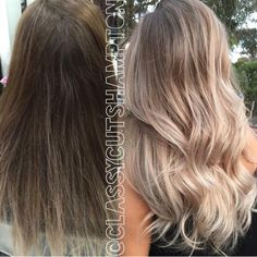 Ombré   creamy blonde   ash blonde