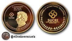Medalla Conmemorativa del Tercer Aniversario de la creación del SUCRE (2013)  Lee el artículo completo AQUI: Medalla Conmemorativa del Tercer Aniversario de la creación del SUCRE (2013)  En el tercer aniversario del Sucre el Consejo Monetario Regional del Sistema Unitario de Compensación Regional de Pagos presentó una Medalla Conmemorativa como un emblema del proceso de integración de América Latina. La medalla conmemorativa del Sucre fue presentada en el marco de la XXX Reunión del…