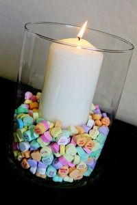 Valentines Day Conversation Heart Centerpiece