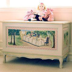 Alice In Wonderland toy chest ... my favorite movie as a child.