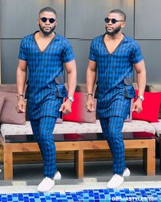 Nigerian Casual Fashion Styles for Men - photo Latest African Wear For Men, African Shirts For Men, African Dresses Men, African Attire For Men, African Clothing For Men, Nigerian Men Fashion, African Men Fashion, Mens Fashion, African Women