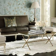 for some reason i like white cowhide rugs!