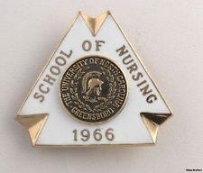 UNCG School of Nursing Pin Badge - 10k Gold University North Carolina Greensboro