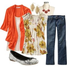 Orange fall/spring outfit - Old Navy