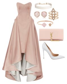 """Pink Tie?"" by oviattmia on Polyvore featuring Zac Posen, Humble Chic, Monica Vinader, Michael Kors, Yves Saint Laurent and Gianvito Rossi"