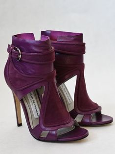 Camilla Skovgaard - Tongue Stiletto Bootie / Purple by Camilla Skovgaard from Beige