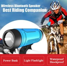 WFC Outdoor Bluetooth Portable Bicycle Speaker + LED Flashlight Combo //Price: $35.99 & FREE Shipping //     #fashion #style #stylish #love #TagsForLikes #me #cute #photooftheday #nails #hair #beauty #beautiful #instagood #pretty #swag #pink #girl #girls #eyes #design #model #dress #shoes #heels #styles #outfit #purse #jewelry #shopping #glam