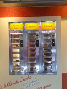 Dutch hot food vending machines. You see these everywhere.