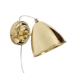 Gold wall lamp