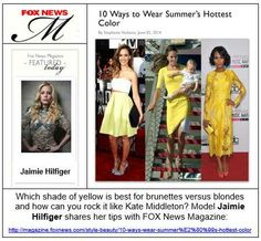 Jaimie Hilfiger commentary in Fox News Magazine.