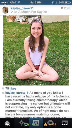 Spread the word and pray she can find a match