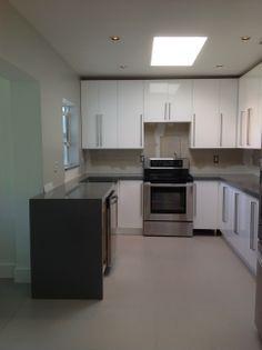 Compac Quartz Kitchen Countertops With Drop Down Leg Color: Silver  Http://www