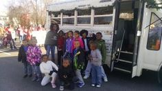 We helped decorate the bus for the Boys and Girls Club in Dumfries Virginia going to the Dumfries parade