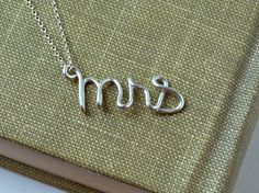 Sterling Silver Mrs. Necklace Bridal Jewelry Bridal Accessories Personalized gift Personalized Bride Gifts Girlfriend gifts