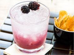(Blackberry Bramble)---8 oz Tequila, 8 oz Lemonade, 2 oz Blackberry liqueur, Blackberries to garnish