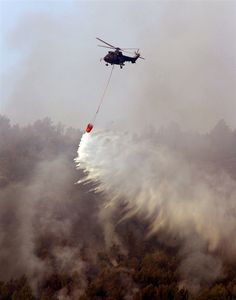 Helicopter in an atempt to extinguish wildefire in Spain. PhotoBlog