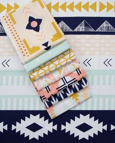 Sunday Stash Arizona by April Rhodes (Red Pepper Quilts) Sewing Hacks, Sewing Crafts, Sewing Projects, Craft Projects, Sewing Station, Fabric Bins, Art Gallery Fabrics, Home And Deco, Fabulous Fabrics