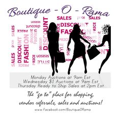 Thursday Ready To Ship Event Going on Now over at  http://www.facebook.com/BoutiqueORama