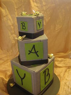 baby block hounds tooth 2 by Tammie Coe Cakes http://www.tammiecoecakes.com