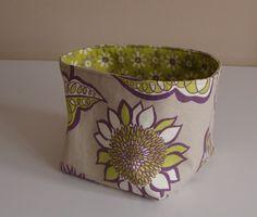 Medium Bucket fabric storage bin by ShaggyBaggy on Etsy, $24.00