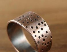 Dots Ring. Adjustable Wide Ring In ..