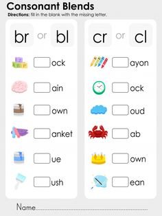 Teaching phonics is a great way to help your child learn to read and write with confidence! Use this free, printable phonics worksheet to get extra practice with the consonant blends br, bl, br, and cl. Have your young learner look at the image and tell you what it is, and then see if they can choose the correct consonant blend. When they're finished, have them read the words back to you! Read more at…