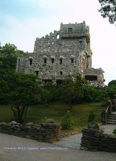 Gillette's Castle in Connecticut. Built by the actor William Gillette who payed Sherlock Holmes on stage in 1899 and beyond. Gillette Castle, East Haddam, CT (SE of me)
