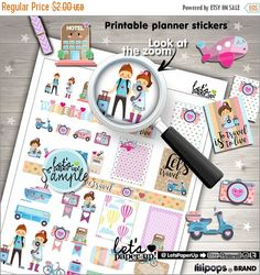 60%OFF - Travel Stickers, Printable Planner Stickers, Luggage Stickers, Kawaii Stickers, Vacation Stickers, Planner Accessories, Trip Sticke